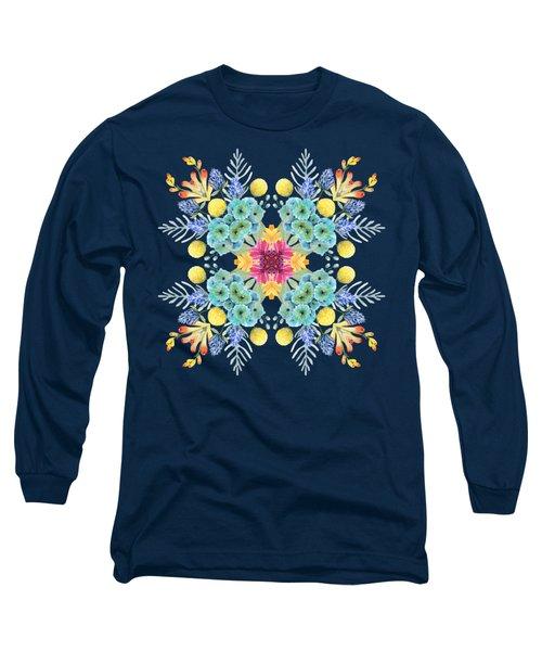 Summer Garden Pattern Long Sleeve T-Shirt