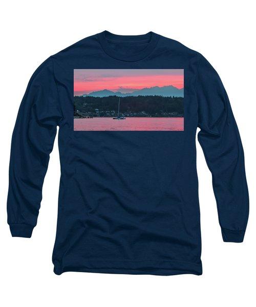 Summer Sunset Over Yukon Harbor.5 Long Sleeve T-Shirt
