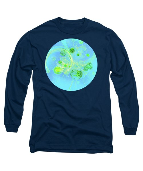Long Sleeve T-Shirt featuring the painting Summer Tree Of Life by Menega Sabidussi