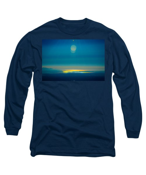Sun Going Down On The Sound Long Sleeve T-Shirt