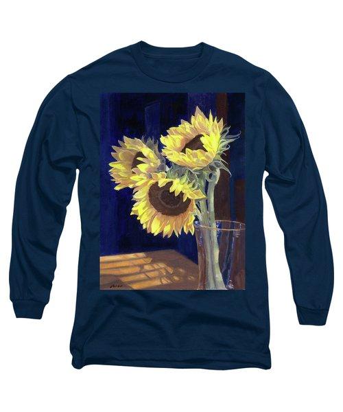 Sunflowers And Light Long Sleeve T-Shirt