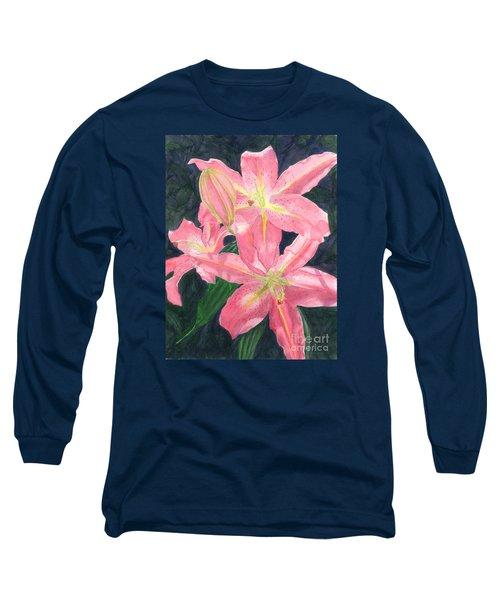 Sunlit Lilies Long Sleeve T-Shirt