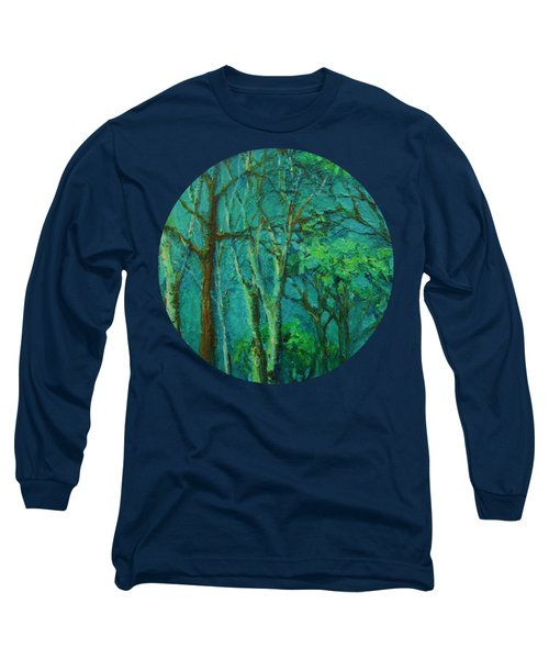 Sunlit Woodland Path Long Sleeve T-Shirt