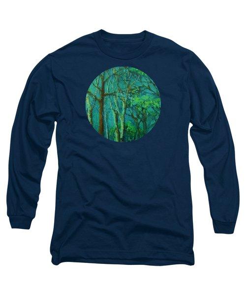 Sunlit Woodland Path Long Sleeve T-Shirt