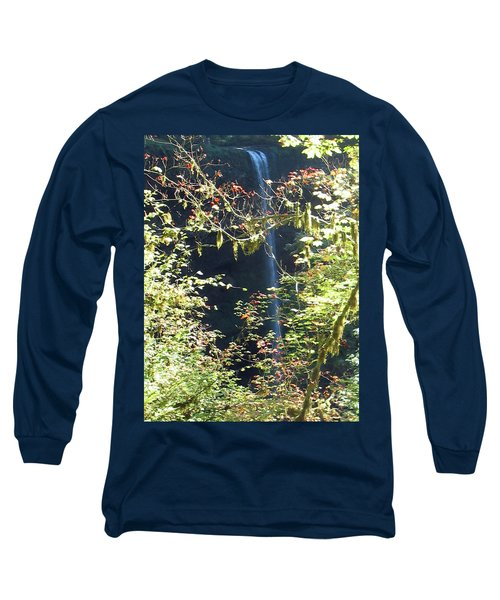 Long Sleeve T-Shirt featuring the photograph Sunlite Silver Falls by Thomas J Herring