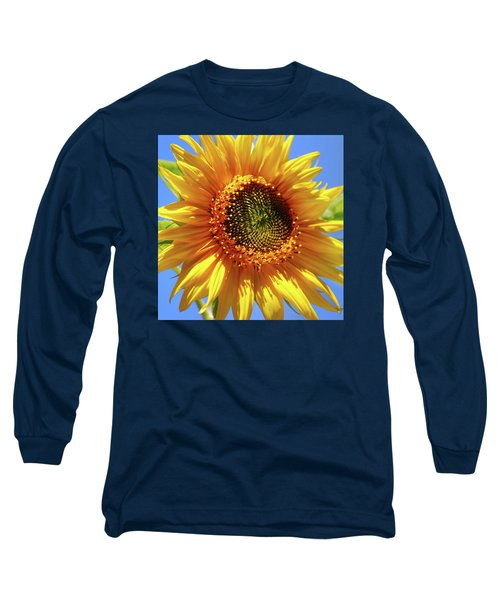 Sunny Sunflower Square Long Sleeve T-Shirt