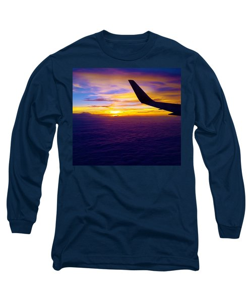 Sunrise Above The Clouds Long Sleeve T-Shirt by Judi Saunders