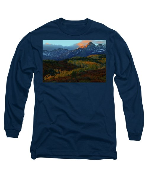 Sunrise At Dallas Divide During Autumn Long Sleeve T-Shirt by Jetson Nguyen