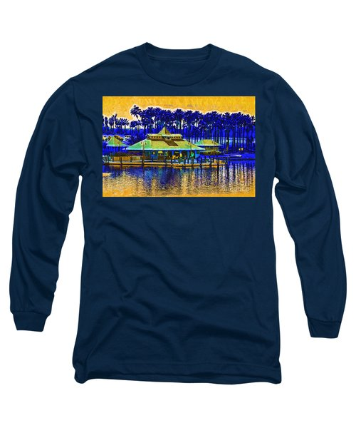 Sunrise At The Boat Dock Long Sleeve T-Shirt by Kirt Tisdale