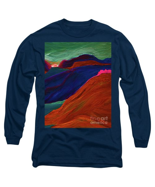 Long Sleeve T-Shirt featuring the painting Sunrise Castle 2  by First Star Art