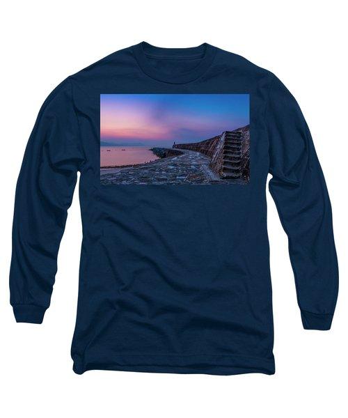 Sunrise On The Cobb, Lyme Regis, Dorset, Uk. Long Sleeve T-Shirt