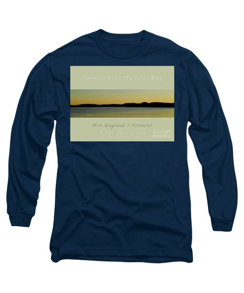 Sunrise Over Malletts Bay Greeting Card And Poster - Six V4 Long Sleeve T-Shirt by Felipe Adan Lerma