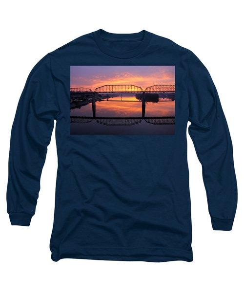 Sunrise Walnut Street Bridge 2 Long Sleeve T-Shirt