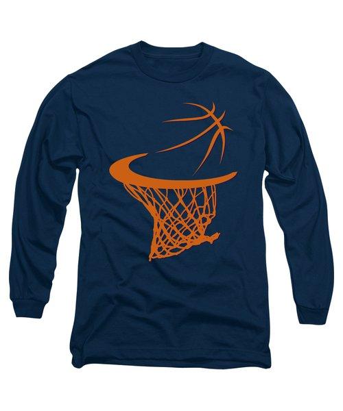 Suns Basketball Hoop Long Sleeve T-Shirt by Joe Hamilton
