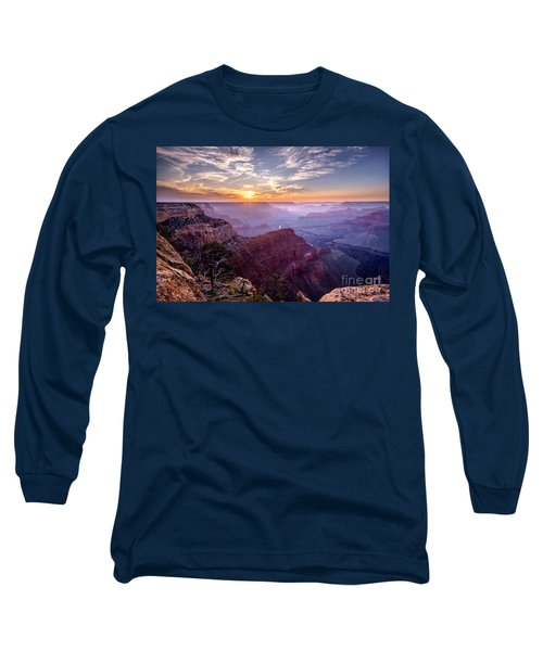 Sunset At Grand Canyon Long Sleeve T-Shirt