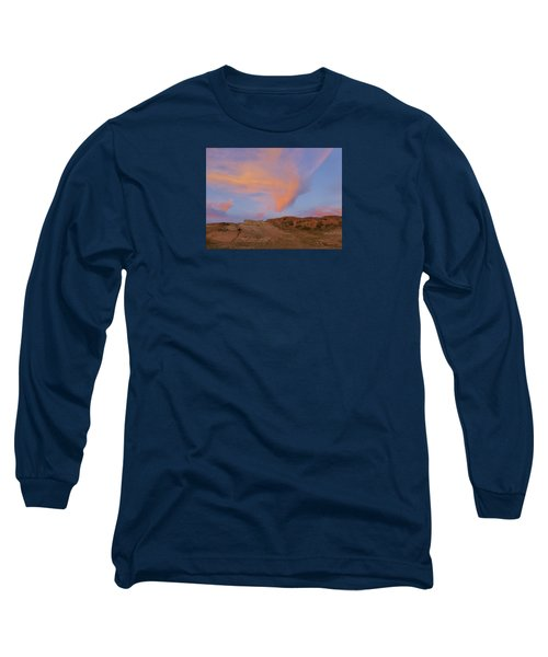 Sunset Clouds, Badlands Long Sleeve T-Shirt