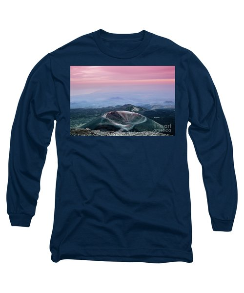 Sunset From The Top Of The Etna Long Sleeve T-Shirt
