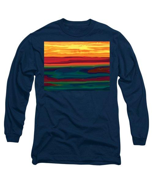 Sunset In Ottawa Valley Long Sleeve T-Shirt by Rabi Khan