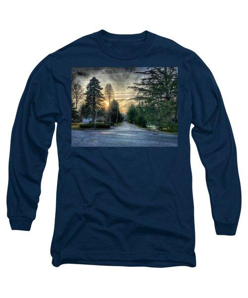 Sunset On Hilltop Drive Long Sleeve T-Shirt