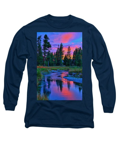 Long Sleeve T-Shirt featuring the photograph Sunset On Lucky Dog Creek by Greg Norrell