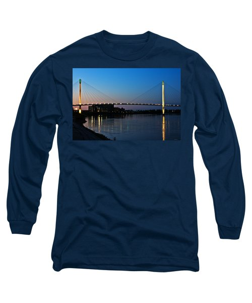 Sunset On The Bob Kerry Pedestrian Bridge Long Sleeve T-Shirt