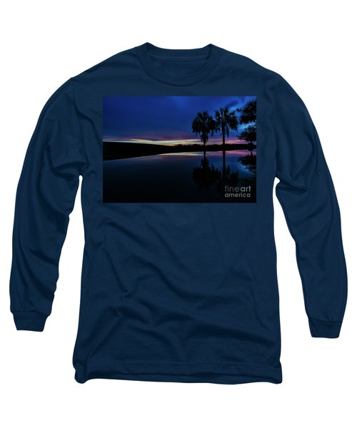 Long Sleeve T-Shirt featuring the photograph Sunset Palms by Brian Jones