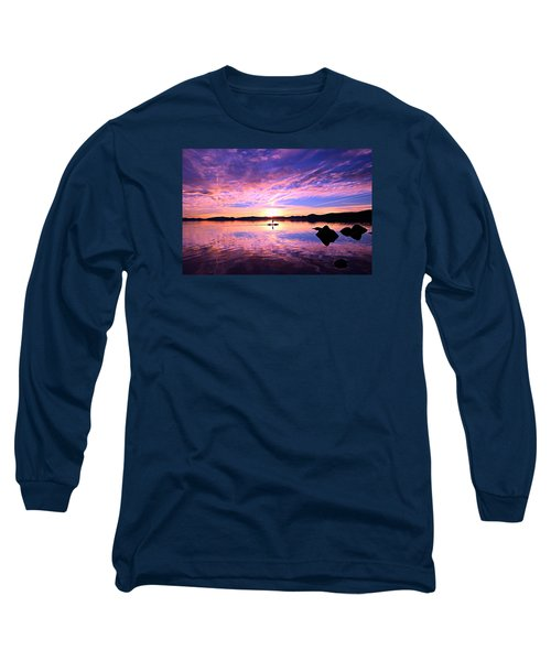 Sunset Supper Long Sleeve T-Shirt by Sean Sarsfield