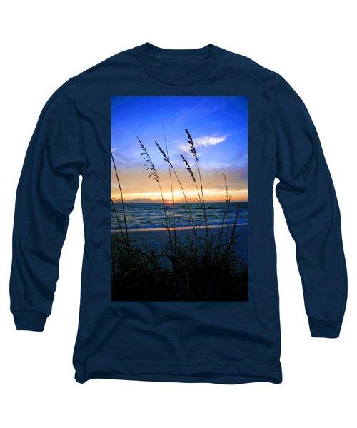 Sunset Thru The Sea Oats At Delnor Wiggins Long Sleeve T-Shirt