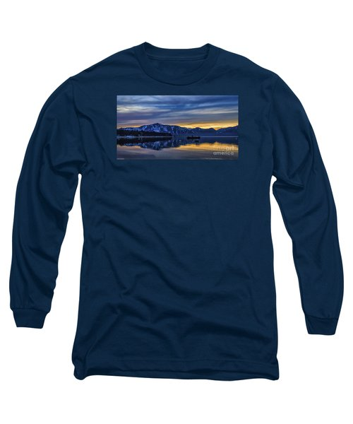 Sunset Timber Cove Long Sleeve T-Shirt by Mitch Shindelbower