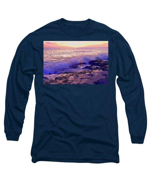 Sunset, West Oahu Long Sleeve T-Shirt by Susan Lafleur