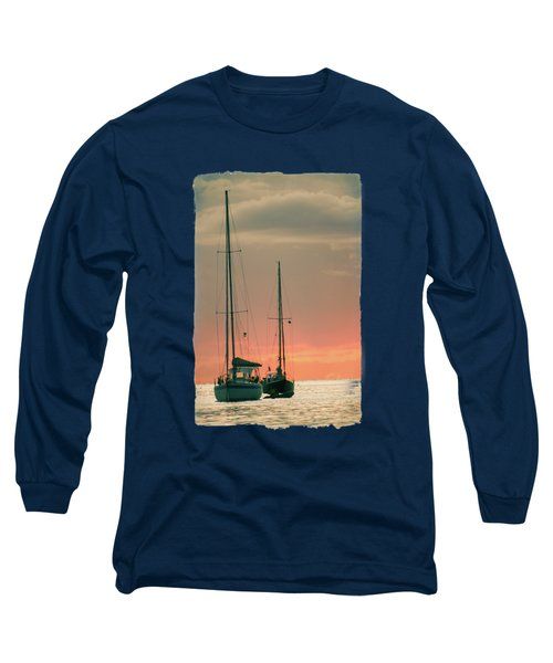 Sunset Yachts Long Sleeve T-Shirt by Konstantin Sevostyanov