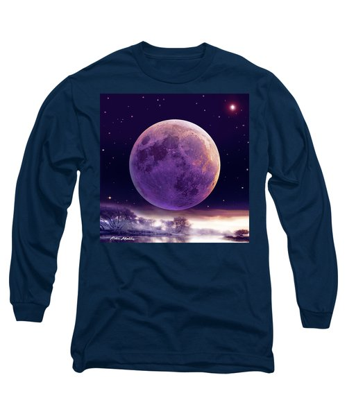 Super Cold Moon Over December Long Sleeve T-Shirt