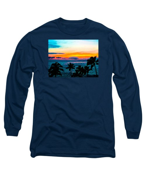 Surreal Sunset Long Sleeve T-Shirt by Russell Keating
