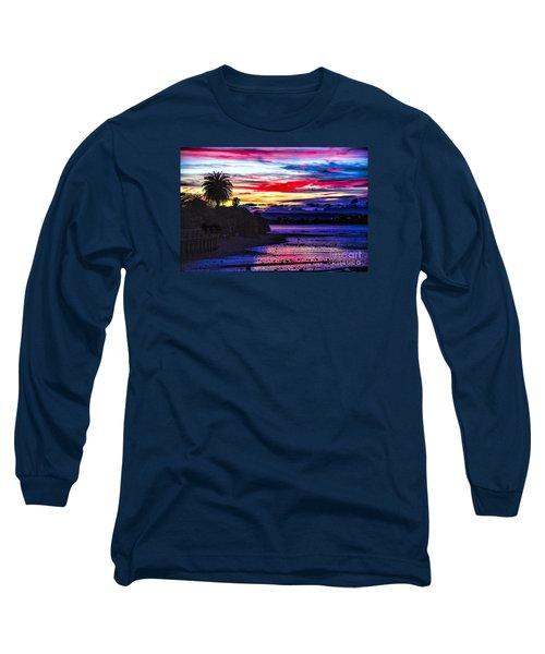 Suset Beach Long Sleeve T-Shirt by Rick Bragan