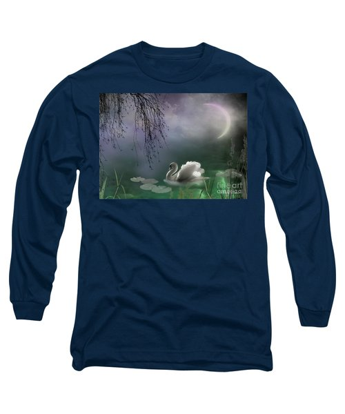 Swan By Moonlight Long Sleeve T-Shirt