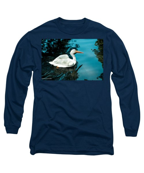 Long Sleeve T-Shirt featuring the photograph Swan Lake by Debbie Karnes