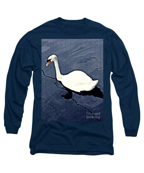 Long Sleeve T-Shirt featuring the photograph Swan On The Rhine by Sarah Loft