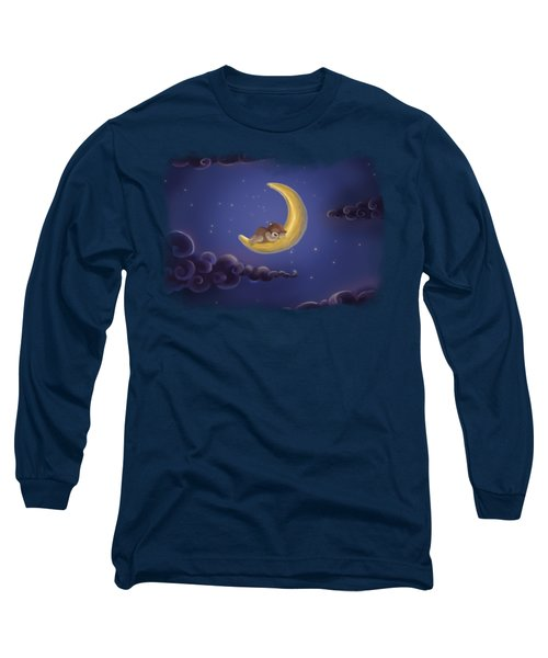 Long Sleeve T-Shirt featuring the drawing Sweet Dreams by Julia Art