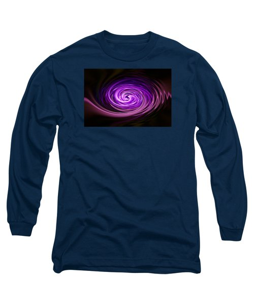 Swirling Zig Zag Abstract Long Sleeve T-Shirt by Penny Lisowski