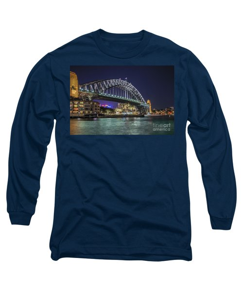 Sydney Harbor Bridge At Night Long Sleeve T-Shirt