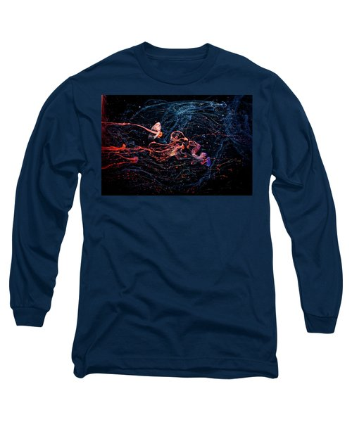 Symphony - Abstract Photography - Paint Pouring Long Sleeve T-Shirt by Modern Art Prints