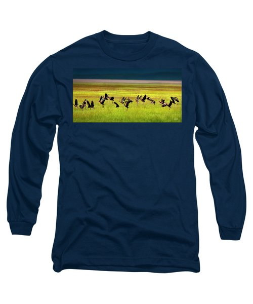 Take Off Long Sleeve T-Shirt by Leland D Howard