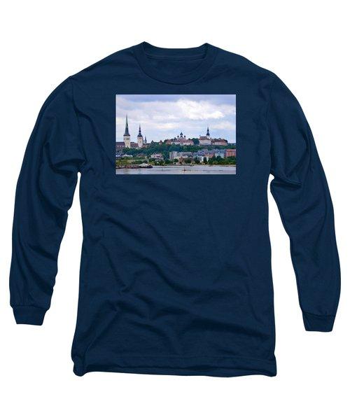Tallinn Estonia. Long Sleeve T-Shirt by Terence Davis