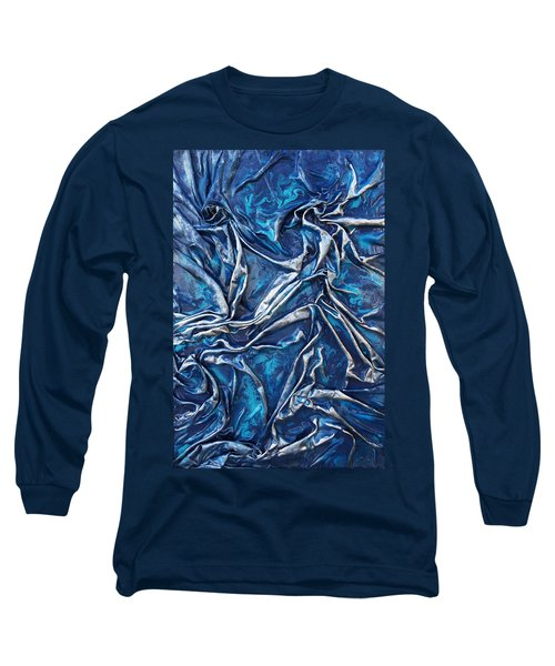 Teal And Silver Long Sleeve T-Shirt