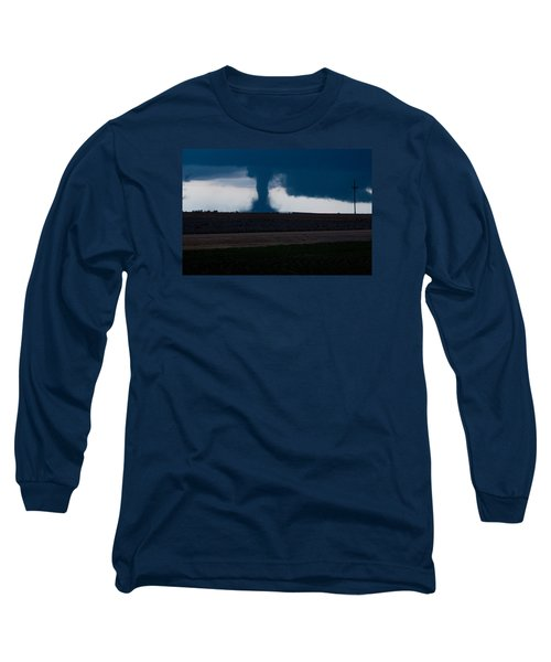 Long Sleeve T-Shirt featuring the photograph Terror On The Horizon In Western Kansas by Shirley Heier