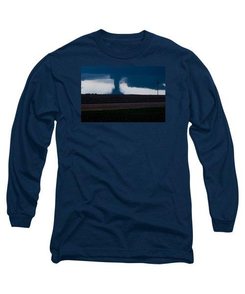 Terror On The Horizon In Western Kansas Long Sleeve T-Shirt