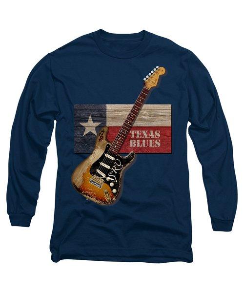 Long Sleeve T-Shirt featuring the digital art Texas Blues Shirt by WB Johnston