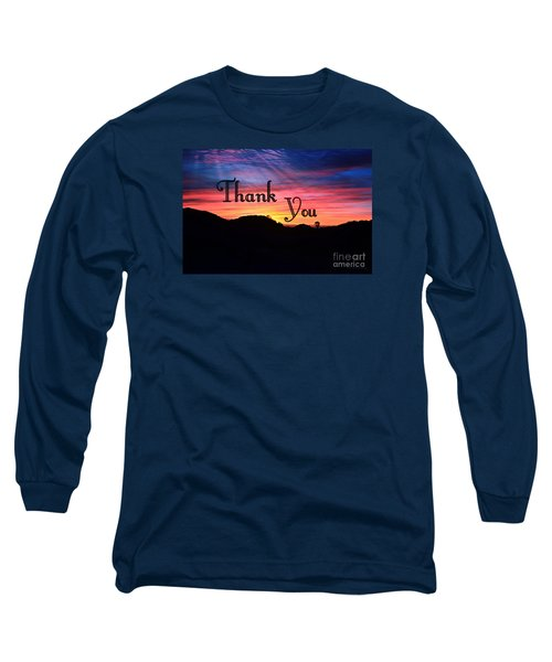 Thank You Water Long Sleeve T-Shirt by Sharon Soberon