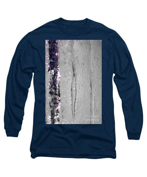 The Wall Of Amethyst Ice  Long Sleeve T-Shirt by Jennifer Lake