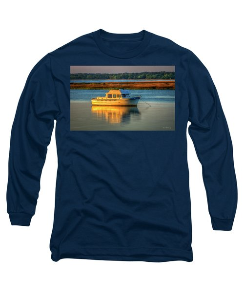 The Anchor Holds Beaufort South Carolina Boat Art Long Sleeve T-Shirt